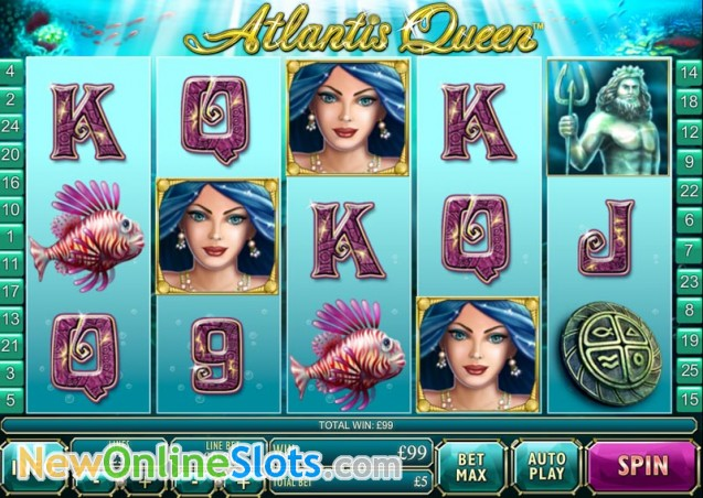 Play Atlantis Queen Slots Online at Casino.com NZ