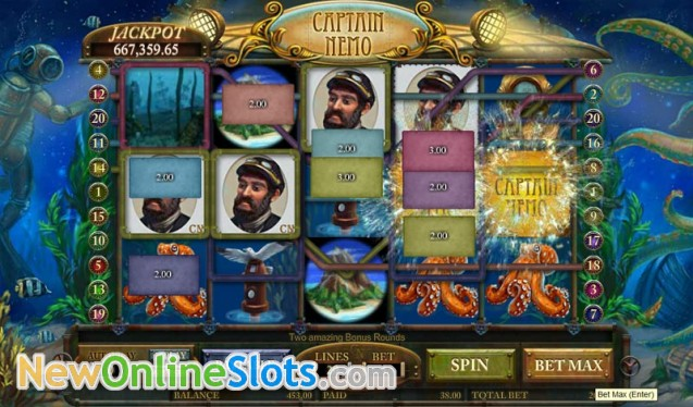 Captain Nemo Slot Game by Amaya - Play for Free Online