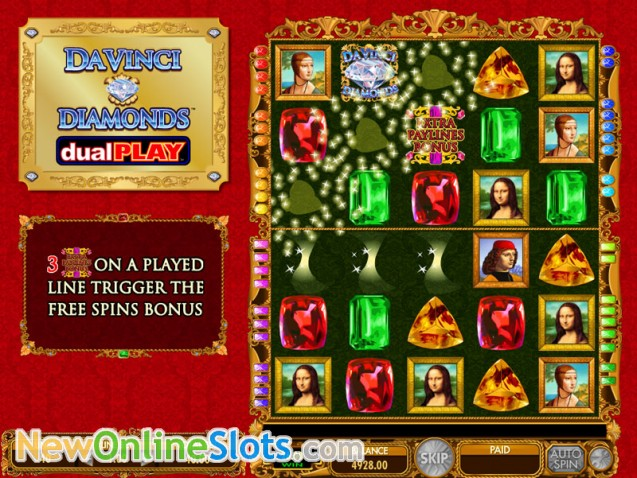 Da Vinci Diamonds Dual Play Slots - Play Casino Games Online