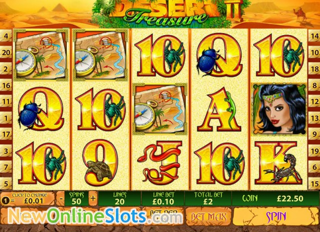 Play Desert Treasure II Slots Online at Casino.com NZ