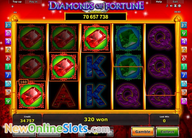 Play Diamonds of Fortune Slot Game Online | OVO Casino