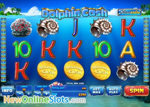 Play Dolphin Cash Slots Online at Casino.com NZ
