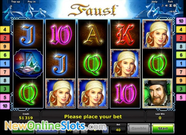 online slot faust slot machine