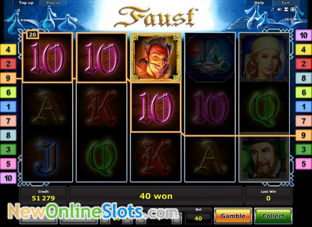 faust slot games online