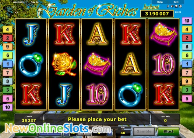 Play Garden of Riches for free Online | OVO Casino