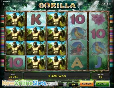 Gorilla slot by Novomatic image #1