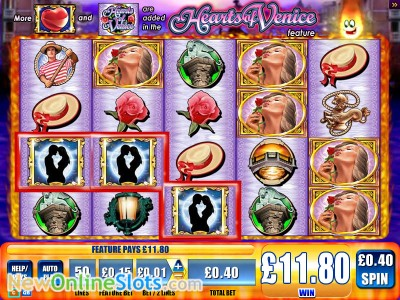 Hearts of Venice slot by WMS image #1