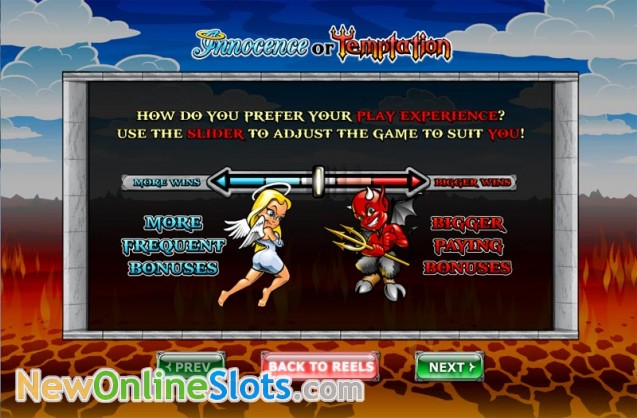 Play Innocence or Temptation online slots at Casino.com