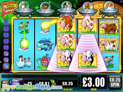 Invaders from the Planet Moolah slot by WMS image #1