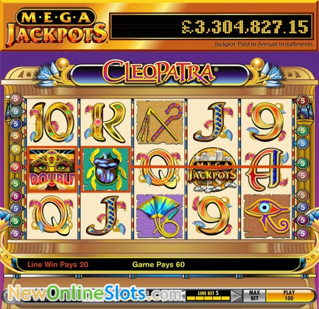 MegaJackpots Cleopatra Slot Machine