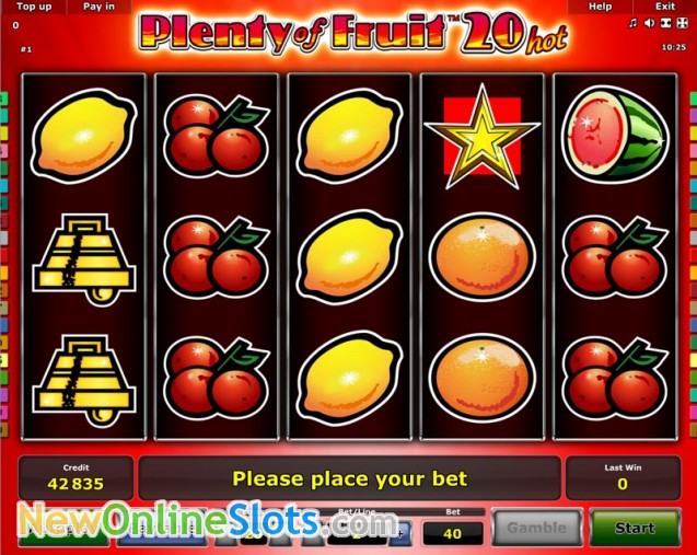 Play Plenty of Fruit 40 Slot Game Online | OVO Casino