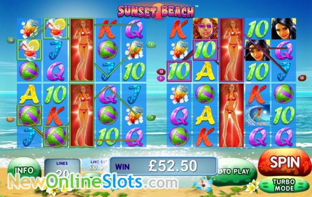 Play Sunset Beach Slots Online at Casino.com NZ