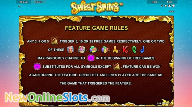 Play Sweet Spins Slot Game Online | OVO Casino