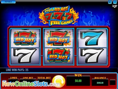 triple red hot sevens slots